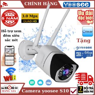 (Thẻ nhớ 64Gb), Camera , camera wifi ngoài trời yoosee S10 3.0Mpx , Đàm thoại 2 chiều , cảnh báo chuyển động , chống nước Ip68 , camera ip , camera wifi , camera an ninh , camera chống trộm , camera giám sát , camera ngoài trời 1