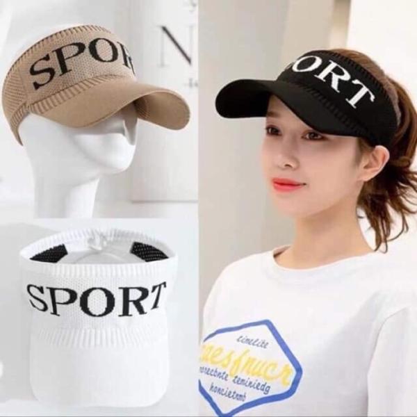 Mũ lưỡi chai nữ, mũ nửa đầu thể thao Sport - nón nữ thời trang phong cách HÀN QUỐC TRẺ CHUNG, NĂNG ĐỘNG