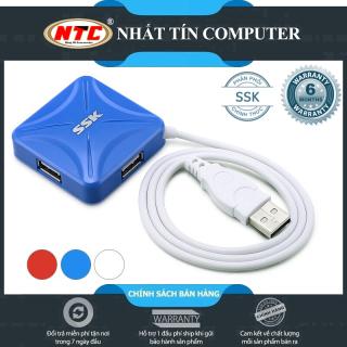 [HCM]HUB chia cổng USB 2.0 SSK SHU027 từ 1 ra 4 cổng (Màu Random) - Nhất Tín Computer thumbnail