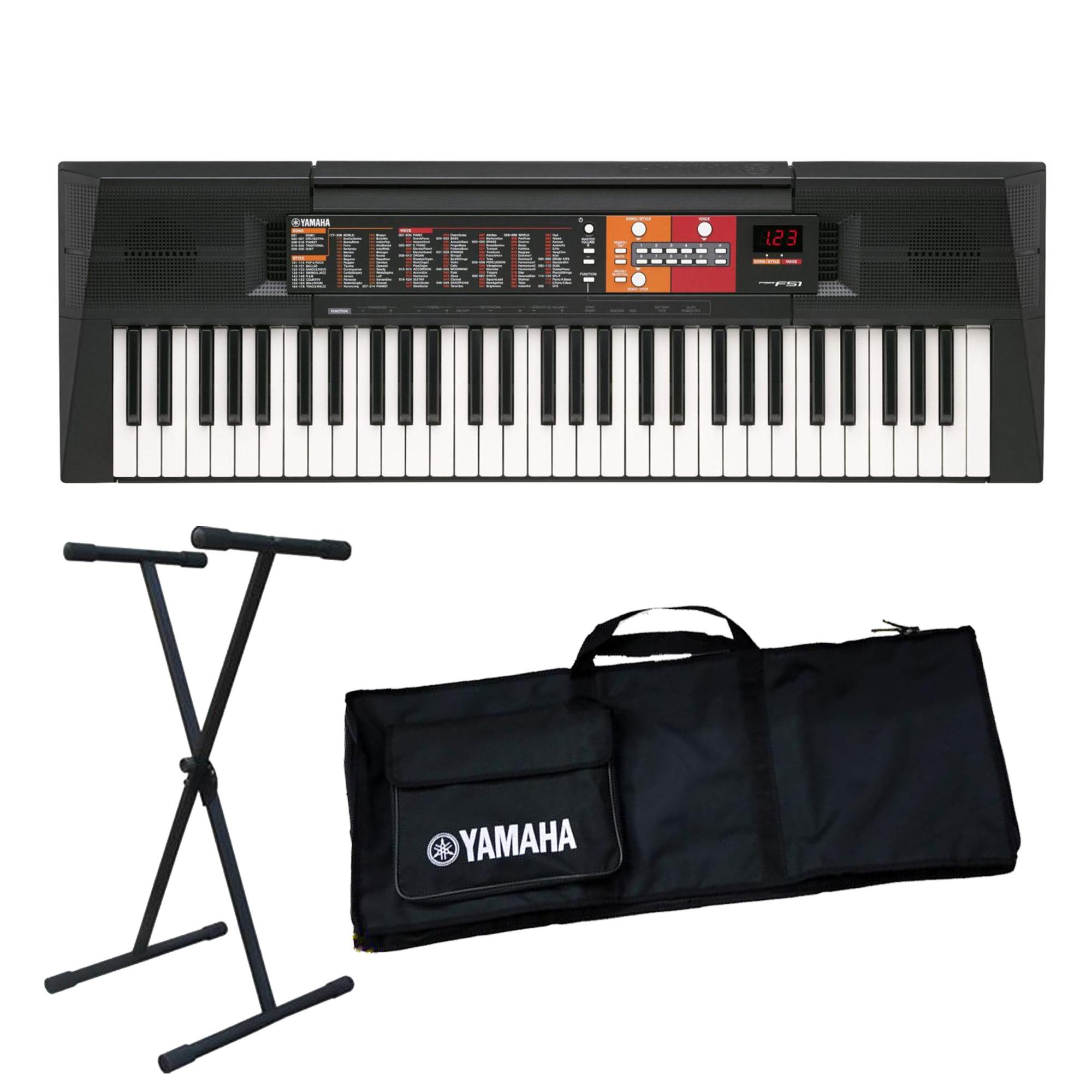 Đàn organ Yamaha PSR-F51(Đàn, chân, bao) - Piano Fingers