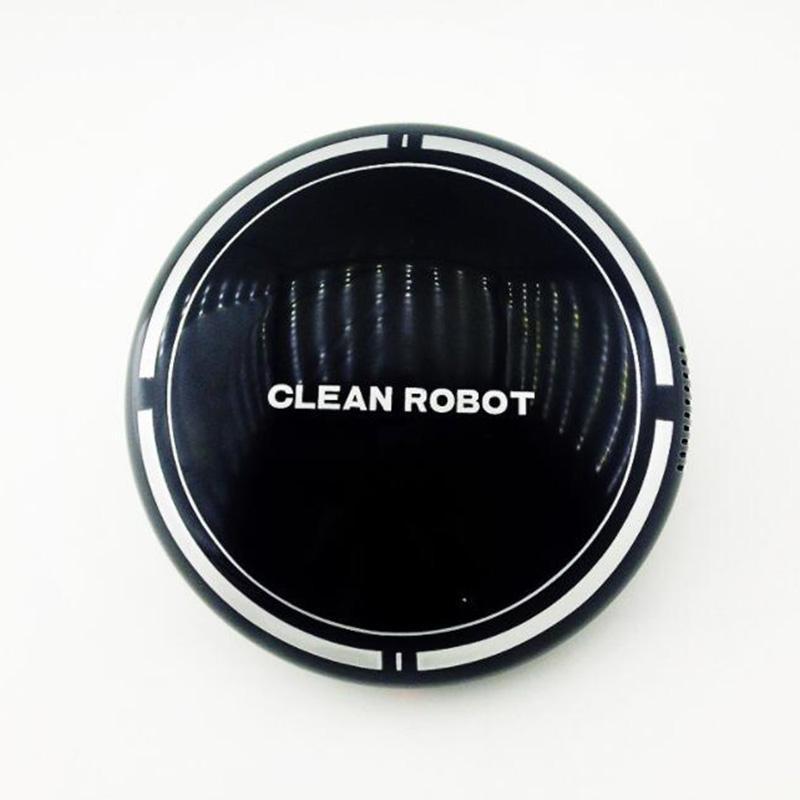 แบบพกพาสมาร์ทกวาดหุ่นยนต์ดูดเครื่องเครื่องดูดฝุ่นและกวาดทำความสะอาดสีดำ