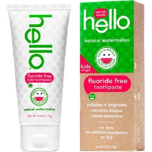 Hello kem đánh an toàn cho trẻ em - hương Dưa Hấu 119g nhập khẩu