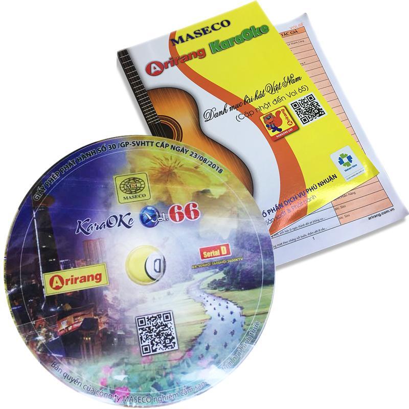 Bộ sách + đĩa Karaoke Arirang Serial D Vol 65-66 new version