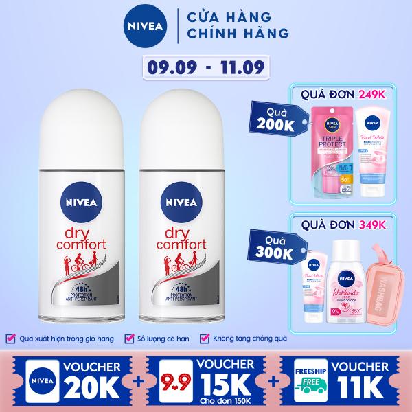 Combo 2 Lăn Ngăn Mùi NIVEA Khô Thoáng Mịn Màng (50ml) - 81611