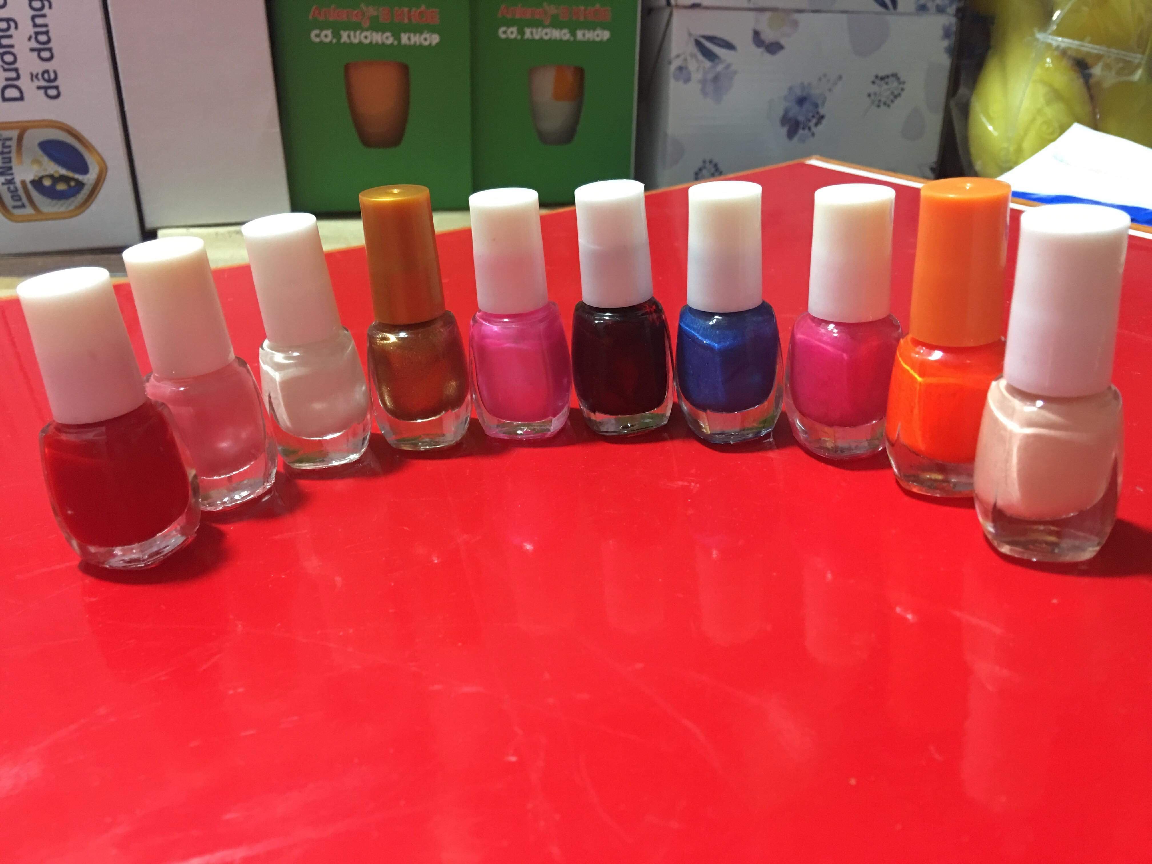 Set 10 chai sơn móng đủ màu tốt nhất