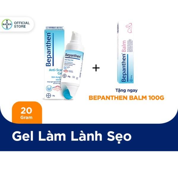 Gel giúp ngăn ngừa hình thành sẹo đỏ và sẹo lồi kèm dụng cụ xoa bóp Bepanthen Anti-scar Gel 20g - Tặng 1 Bepanthen 100G nhập khẩu