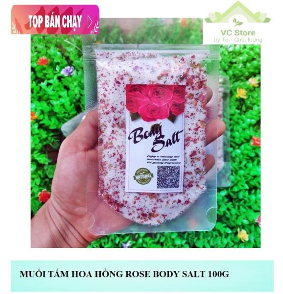 Muối Tắm Hoa Hồng Rose Body Salt 100g - Mẫu mới giá rẻ