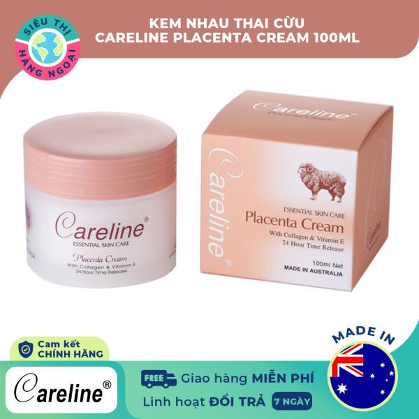 Kem nhau thai Cừu Careline Placenta Cream 100ml (hộp cam) [Chuyên cho da dầu và da hỗn hợp; cung cấp collagen, dưỡng ẩm] Hàng Úc (được bán bởi Siêu Thị Hàng Ngoại)