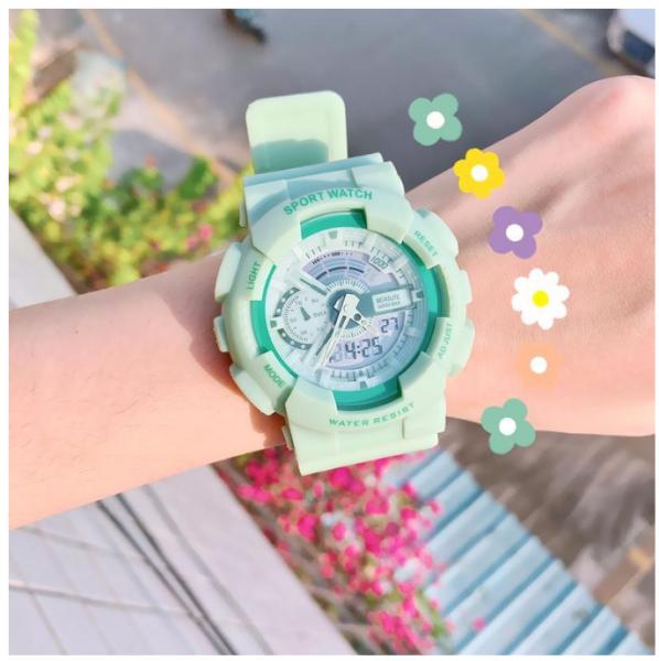 Nơi bán [ TẶNG VÒNG] Đồng hồ thể thao điện tử SHHORS Basic màu matcha thời trang