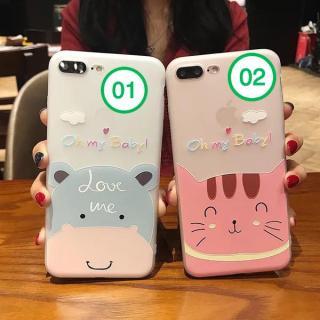[ Có video ] Ốp lưng Silicon dẻo cao cấp in hình mèo và hà mã cho iPhone 6 6s 6Plus 6sPlus 7 7Plus 8 8Plus X XS XR XS Max 11 11 Pro 11 Pro Max ( Có thể chọn mẫu ) thumbnail