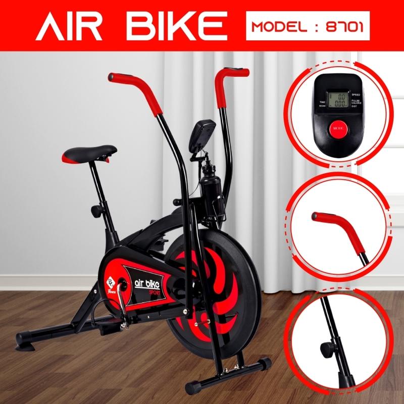 GYM - Xe đạp thể dục Air bike Màu hót năm 2019  thiết kế hoàn toàn mới (Red)