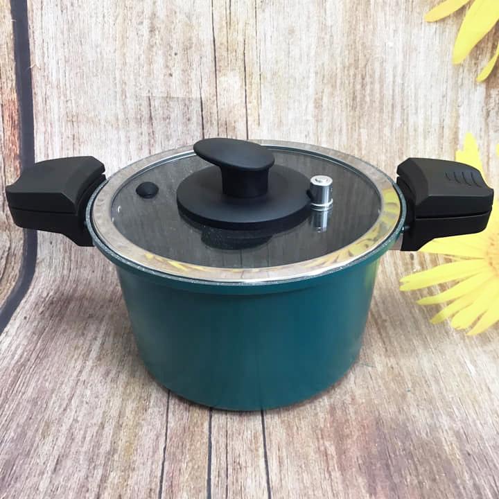 Nồi Hầm Công Nghệ Áp Suất Thấp Amercook USA 24cm 6 Lít dùng bếp từ