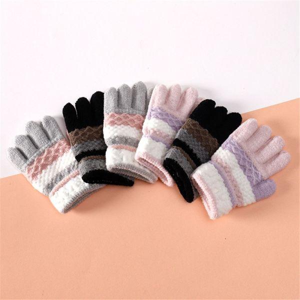 Giá bán DOYOURS 1 pair Elastic Soft Children Kids Girls Boys Mittens Baby Gloves Knitted Full Finger Gloves