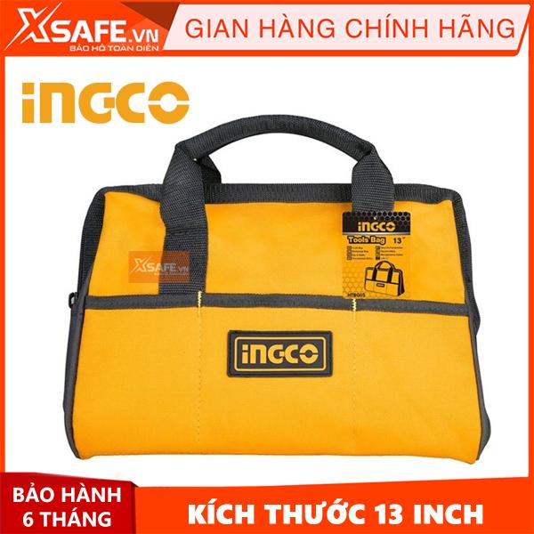 Túi đồ nghề dụng cụ Ingco HTBG05 13 inch giỏ đựng đồ nghề cho cơ khí, điện lạnh, công trình, vải polyester siêu bền bỉ - CHÍNH HÃNG [XSAFE] [XTOOLs]