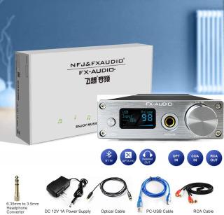 Bộ Giải Mã FX-Audio DAC D01 32 Bit 768Khz DSD512 Bluetooth 5.0 USB and Headphone Amplifier HiFi Stereo Digital to Analogue ES9038Q2M XMOS XU208 Support APTX HD LDAC DSD.512 with 6.35mm to 3.5mm Headphone Converter thumbnail
