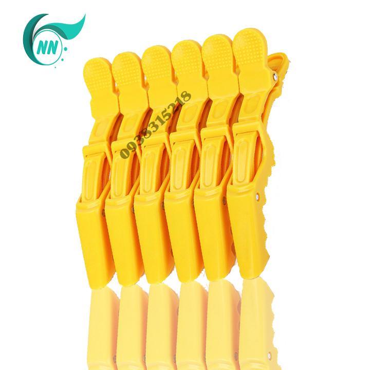 Bộ 6 Kẹp cá sấu chia tóc ( vàng ) giá rẻ