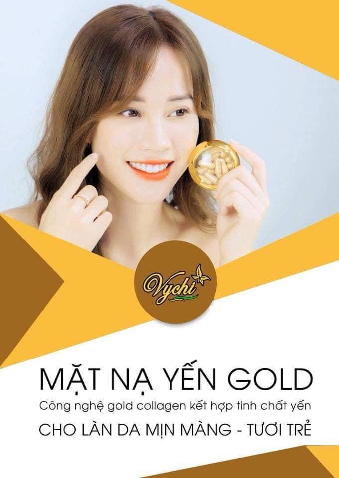 Mặt nạ yến Vychi Gold tặng chén pha mặt nạ