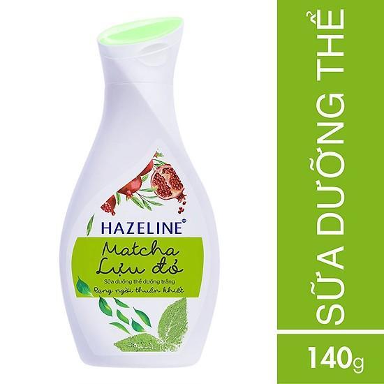 Sữa Dưỡng Thể Hazeline Dưỡng Trắng Da Matcha Lựu Đỏ 140ml nhập khẩu