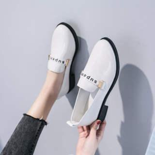 Giày Mary Jane Aurora Cho Nữ Giày Lười Thường Ngày Đi Học Chống Trượt Màu Đen Giày Da Nhỏ Giày Đế Bệt Thời Trang