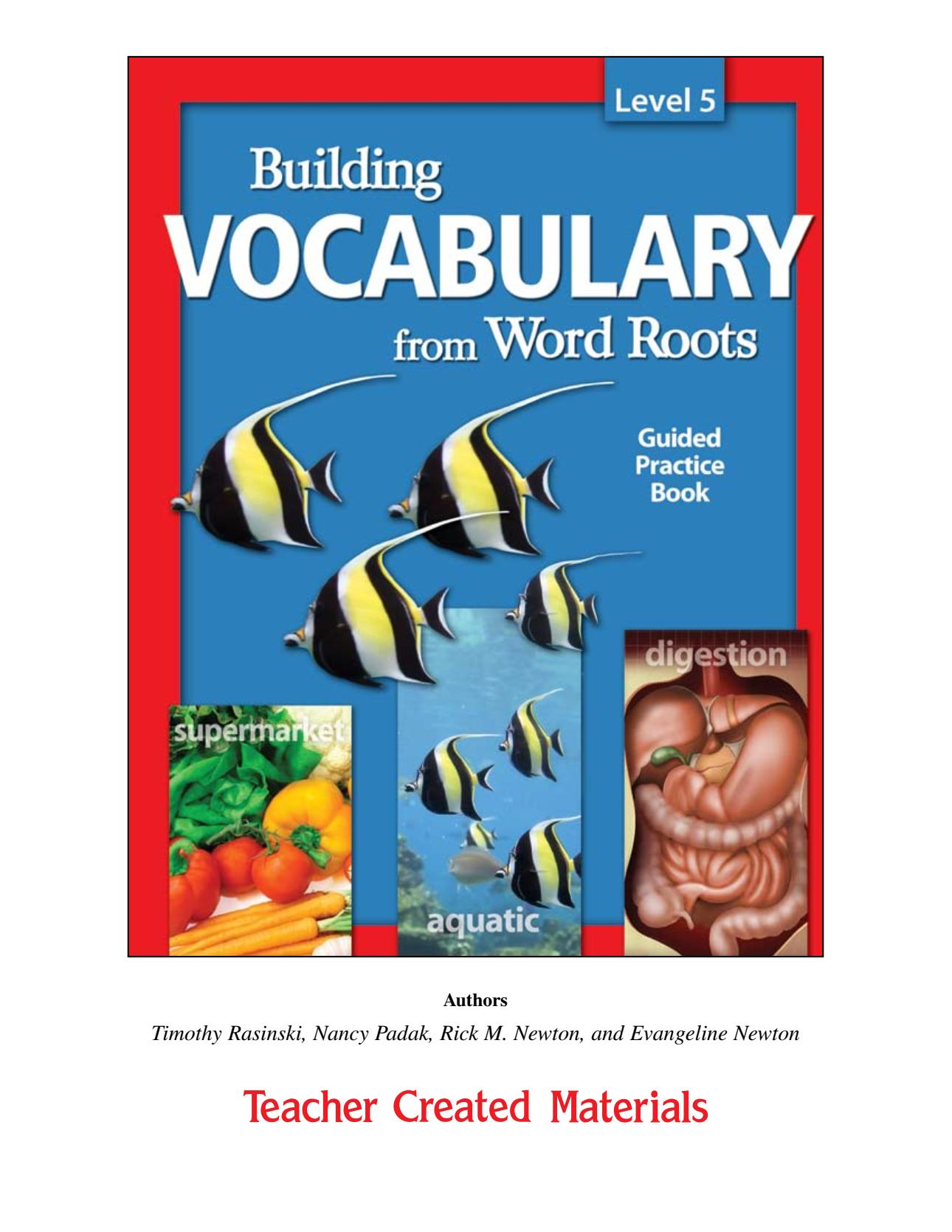 [Sách] Building Vocabulary from Word Roots level 5