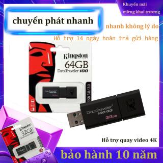 USB 3.0 Kingston DataTraveler 100 - 64GB-Bảo Hành 10 Năm-Hàng Chính Hãng thumbnail