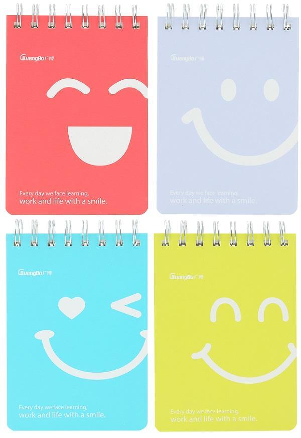 Sổ lò xo A6 GuangBo GBW0807 mặt cười 96 trang