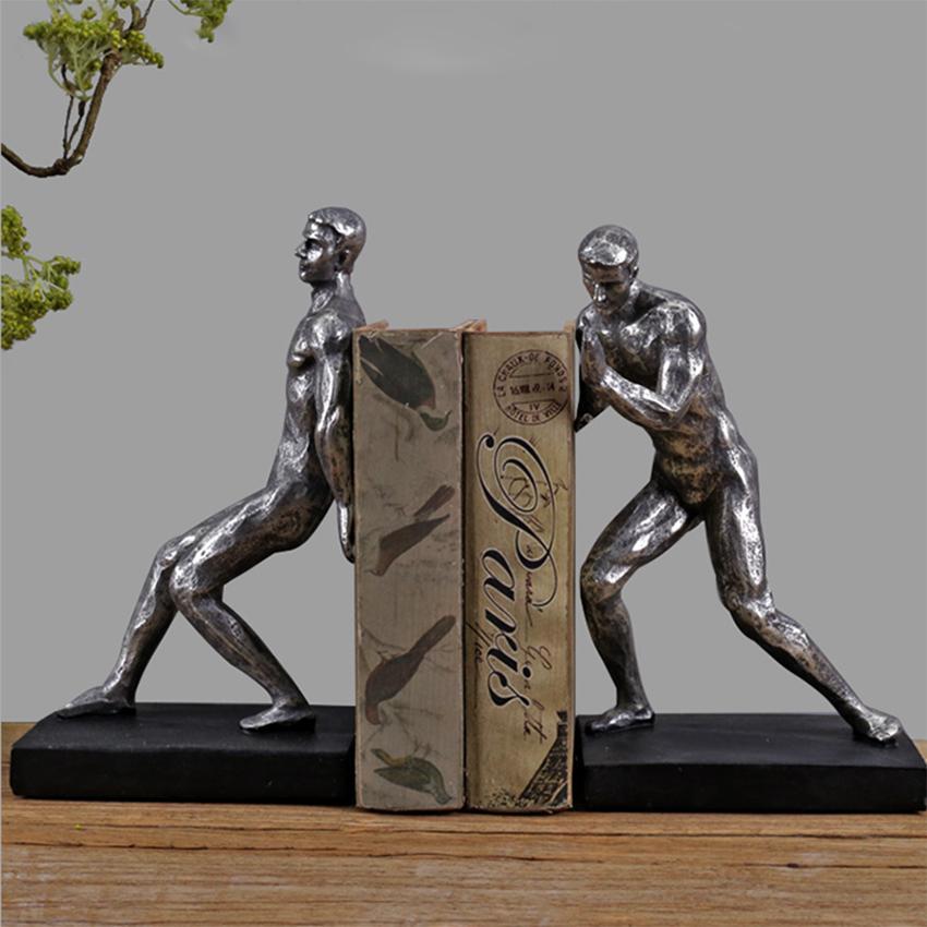 Mua Chặn sách 2 người đàn ông - Chặn sách mô hình điêu khắc đẹp, cổ điển & sang trọng giúp giữ sách, tài liệu trang trí bàn làm việc, kệ tủ-DecorShop
