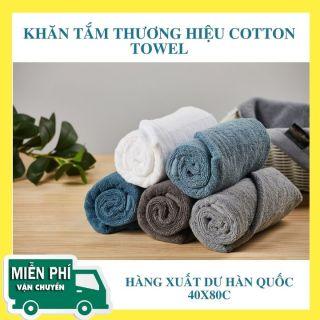Khăn tắm Cotton 40x80cm - Cloud 9 Towel xuất khẩu Hàn Quốc - 100% Cotton siêu dày (170gr-190gr) thumbnail