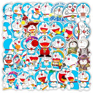 Bộ 50 miếng dán vinyl hình Doraemon chống thấm nước trang trí ván trượt sổ tay - INTL thumbnail