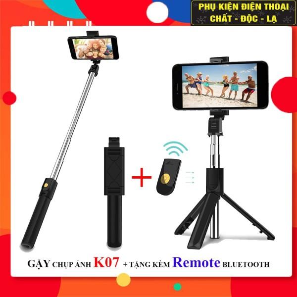 GẬY TỰ SƯỚNG 3 CHÂN BLUETOOTH K07 - Kèm Remote Bluetooth điều khiển từ xa khi chụp ảnh ,quay phim