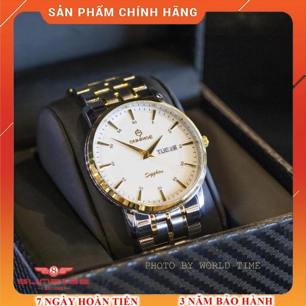 Đồng hồ Nam Sunrise DM1216SWA [Full Hộp , Thẻ BH Hãng 3 Năm] - Kính Sapphire chống xước , chống nước bán chạy