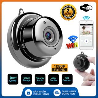 (Tùy chọn kèm thẻ 64Gb - bảo hành 2 năm) Camera mini wifi IP V380 Full HD FREESHIP giám sát, anh ninh không dây kết nối với điện thoại, có hồng ngoại đêm thumbnail