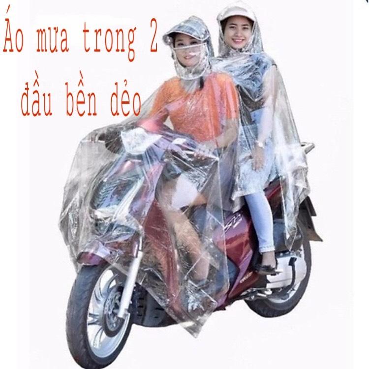 [HCM]Áo mưa trong suốt 2 đầu dùng cho 2 -3 người áo mưa từ nhựa vi sinh ( Loại Dày) - Cty Sản Xuất Áo Mưa CUBIN STORE