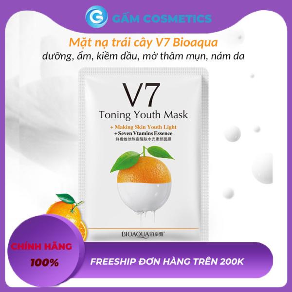 Mặt Nạ V7 Dưỡng Trắng Da Bioaqua Chiết Xuất Trái Cây Bổ Sung Vitamin Cấp Ẩm Kiểm Soát Dầu Làm Mờ Vết Thâm Hiệu Quả Hàng Nội Địa Trung Gấm Cosmetics