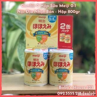 (Date 2022) Sữa Meiji Số 0 Nội Địa Nhật Bản - Hộp 800Gr (2 Hộp ) thumbnail