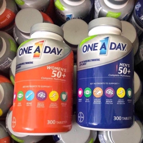 Viên bổ sung Vitamin One A Day ForMens 50+ chai 300 viênXuất xứ Mỹ Date 2022