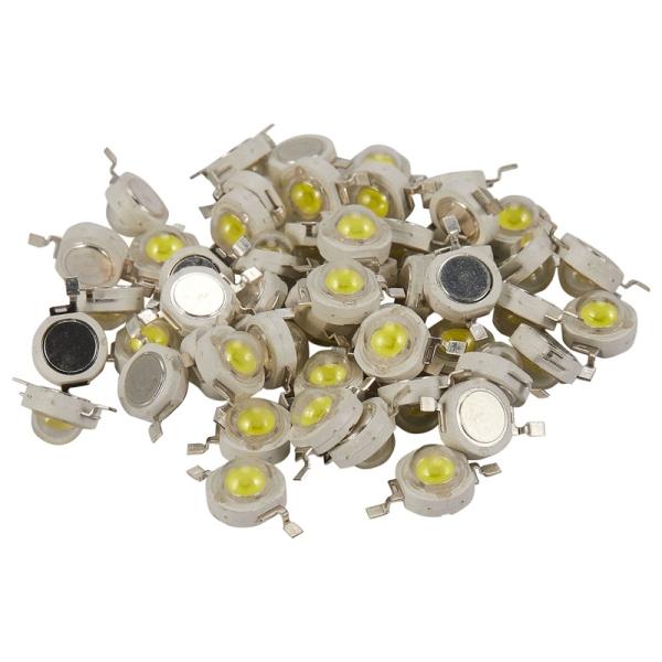 Bảng giá 50Pcs 1W Diode High Power Cool White Led Beads 1 Watt Lamp Chip 3V-3.4V