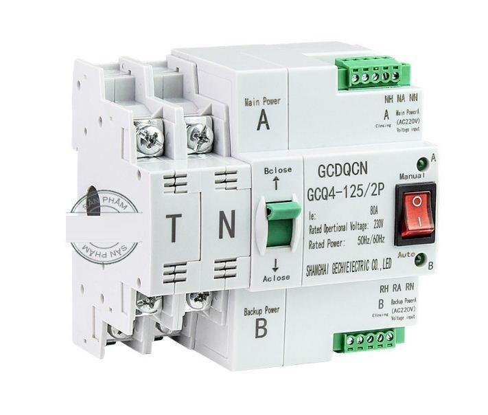 Bộ chuyển đổi nguồn điện tự động không gián đoạn Automatic Transfer Switches ATS (80A/220V)