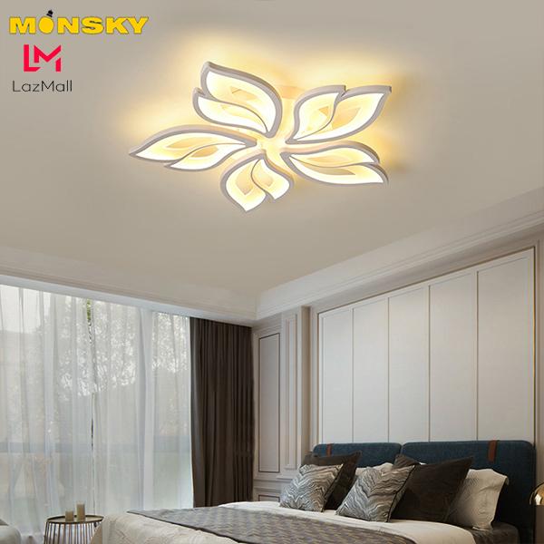 Bảng giá Đèn ốp trần MONSKY UMIA 3 màu ánh sáng có điểu khiển từ xa tiện dụng dùng cho trang trí phòng khách.