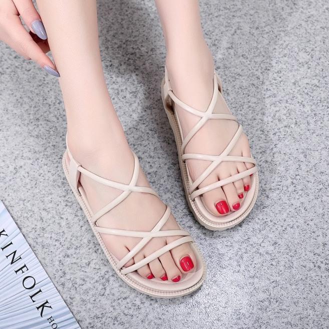 Giày sandal nữ nhựa dây tròn giá rẻ