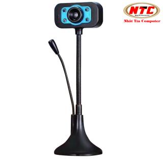 Webcam KM 720p HD hình ảnh và micro trên 1 đầu USB - tích hợp 4 đèn led trợ sáng (Màu Random) - Nhất Tín Computer thumbnail