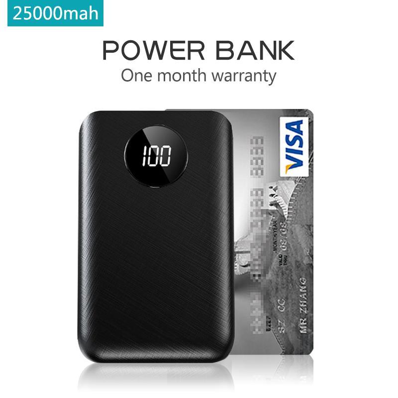 Giá Pin Sạc Dự Phòng 25000 MAh 2 Cổng Sạc Nhanh 2 Cổng Input Iphone, Android, Type C Sac Du Phong, Power Bank