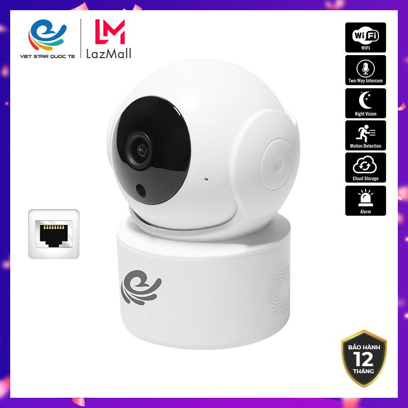 Camera WiFi IP VIET STAR CC2021 Độ phẩn giải 2.0MP Full HD 1080P Hỗ trợ hồng ngoại ban đêm- Tích hợp râu wifi bên trong- Bảo hành 12 tháng CC2021