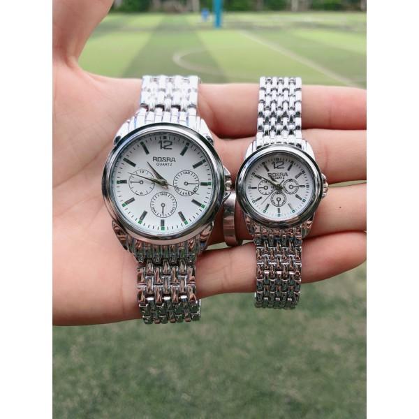 Đồng hồ thời trang nam nữ Rosra bạc MS010