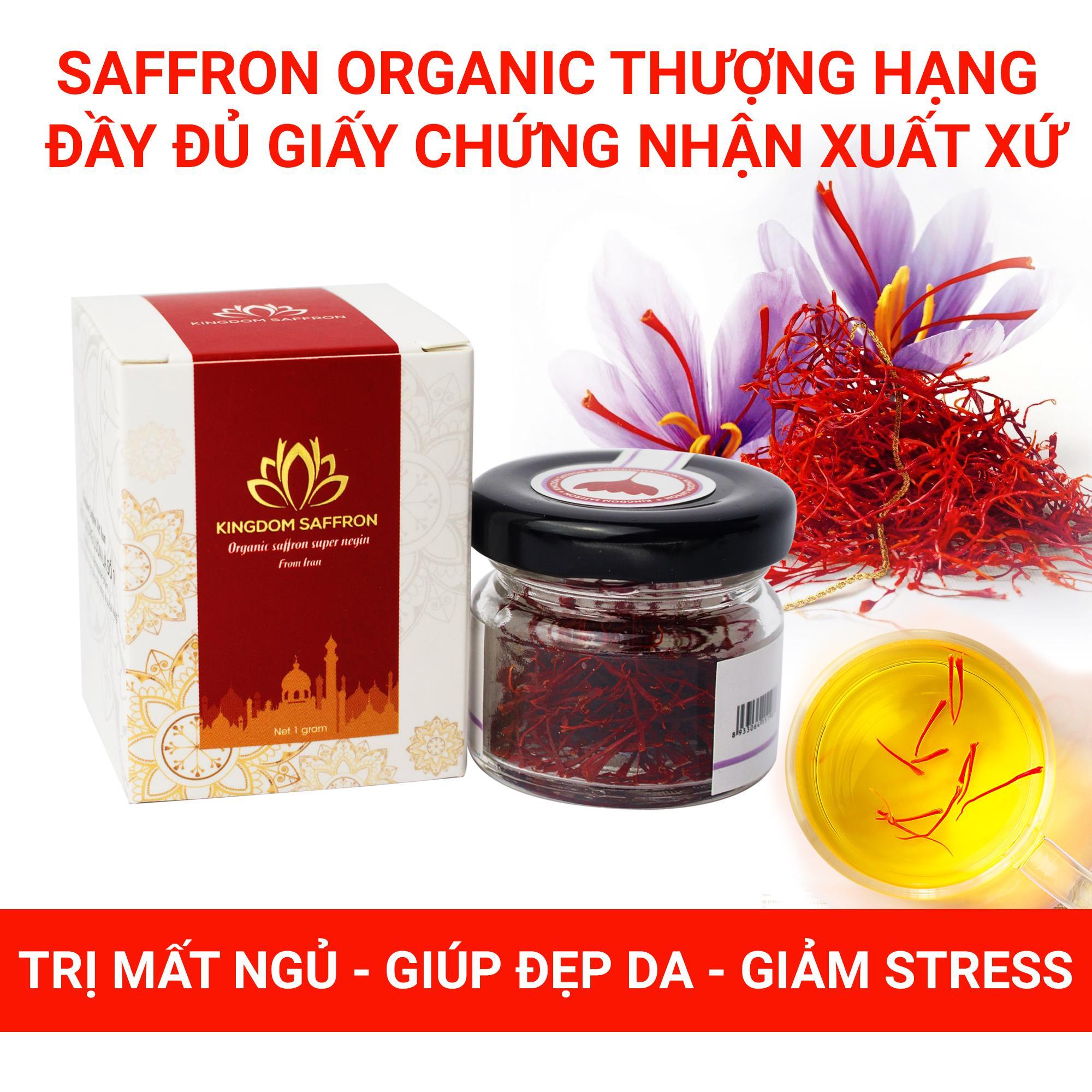 Voucher Khuyến Mãi Saffron KingDom - Nhụy Hoa Nghệ Tây Iran Loại Super Negin Thượng Hạng Hộp 1 Gram