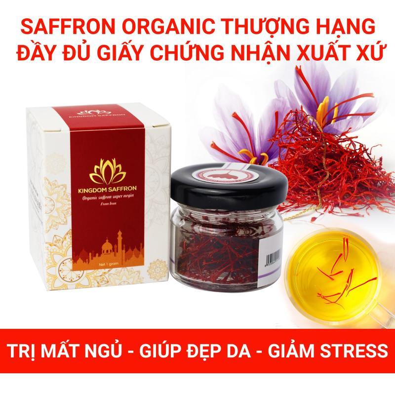 Saffron KingDom - Nhụy Hoa Nghệ Tây Iran Loại Super Negin Thượng Hạng Hộp 1 Gram