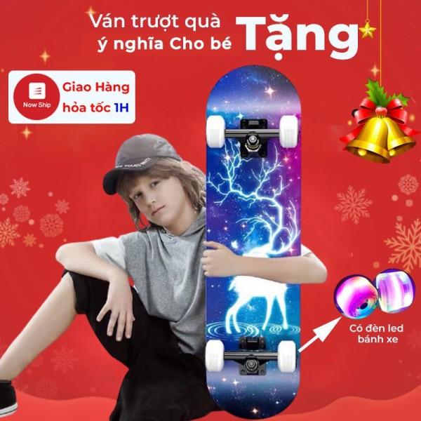 Mua Ván Trượt Ván Trượt Thể Thao Skateboard Cao Cấp Có Đèn Led Phát Sáng