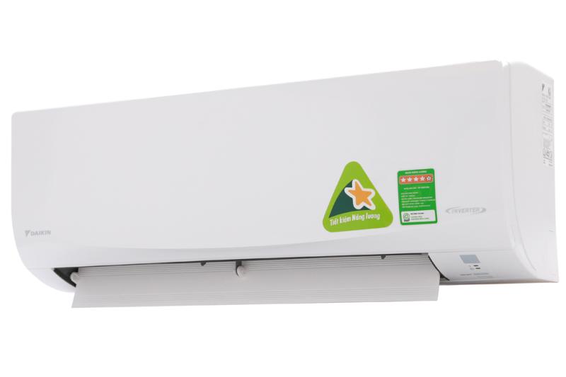 Máy lạnh Daikin Inverter 2.5 HP FTKQ60SVMV - Nhãn năng lượng tiết kiệm điện:5 sao (Hiệu suất năng lượng 4.78) Tiện ích:Chức năng hút ẩm, Thổi gió dễ chịu (cho trẻ em, người già), Hẹn giờ bật tắt máy,Làm lạnh nhanh
