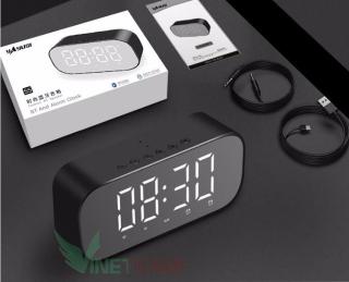 Loa bluetooth đa chức năng Yayusi S2 (Nghe nhạc USB thẻ TF Kết nối Bluetooth 4.2 AUX Nghe FM Báo thức nhiệt độ gương soi) Bảo hành 6 tháng thumbnail
