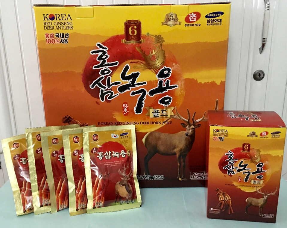 Nước Hồng Sâm Nhung Hươu Hàn Quốc ( 30 gói x 70ml)